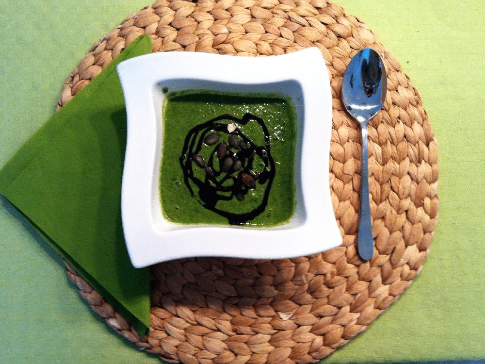 Spinatcreme Suppe (nicht vegetarisch)