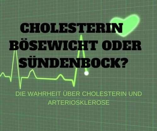 CHOLESTERIN – BÖSEWICHT ODER SÜNDENBOCK- DIE WAHRHEIT ÜBER CHOLESTERIN UND ARTERIOSKLEROSE