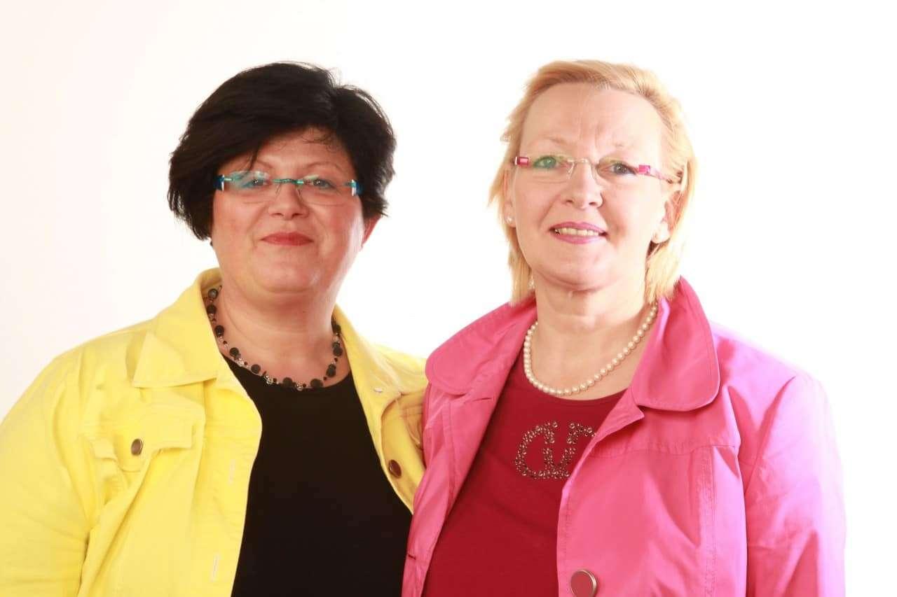 v.l. Iris Jansen, Margret Ache