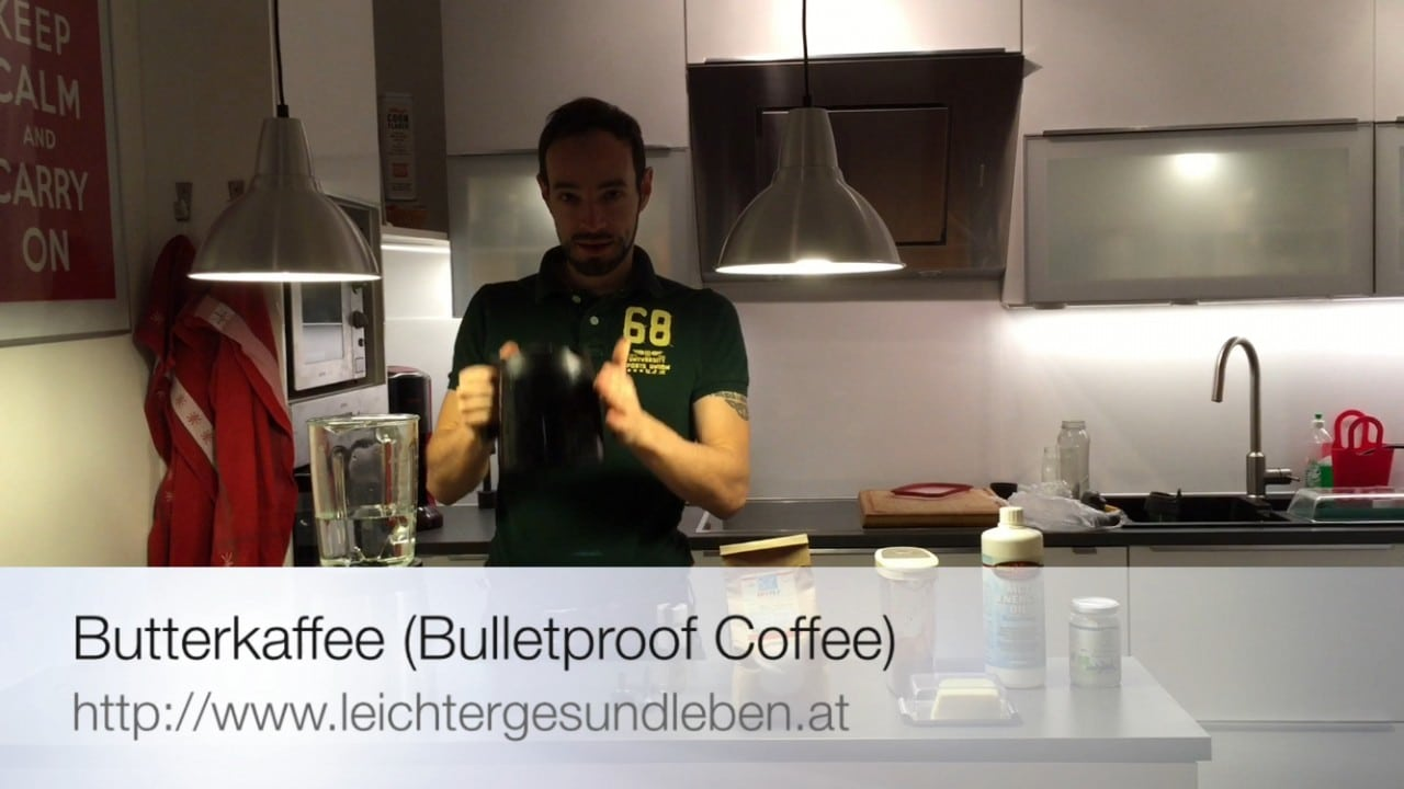high performance kaffee bulletproof coffee butterkaffee rezept video julia tulipan. Black Bedroom Furniture Sets. Home Design Ideas