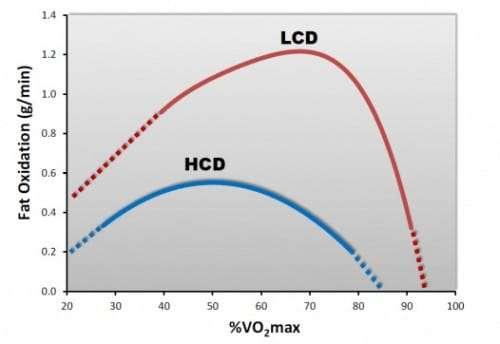 Abbildung 8: Fettoxidationsrate in Abhängigkeit vom %VO2max