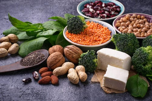 Vegan sources of protein. Healthy food concept. Selective focus